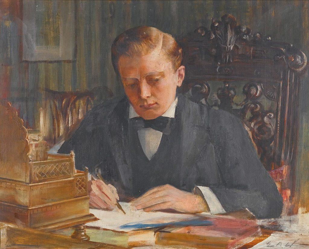 Churchill as a young man