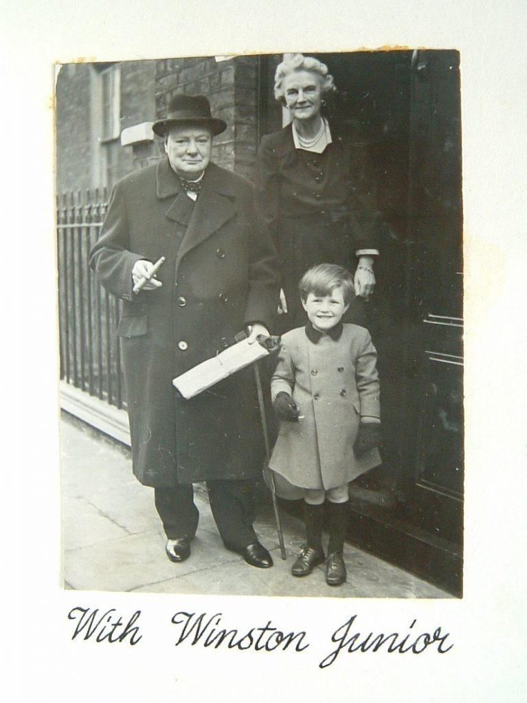 The Churchills with their grandson