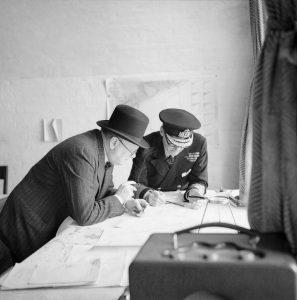 Churchill with Vice Admiral Sir Bertram Ramsay