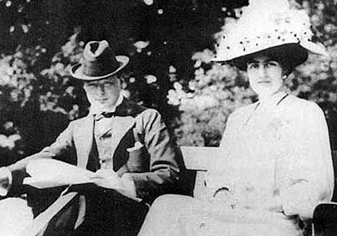 The young Mr. and Mrs. Winston S. Churchill